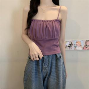 YF42828# 法式小众设计感别致上衣女短款外穿小吊带ins潮网红内搭背心
