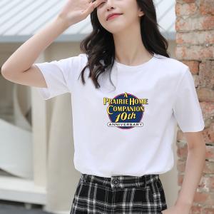 CX6541# 最便宜服装批发 纯棉#白色纯棉短袖T恤女纯色圆领百搭宽松体恤女大码