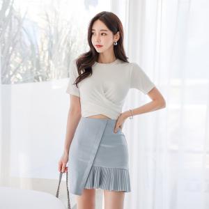 YF47135# 新款套装时尚棉T+短裙两件套裙女 服装批发女装直播货源