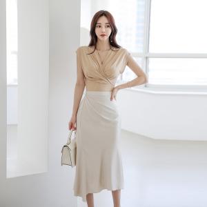 YF47136# 新款套装气质上衣+半身裙两件套女 服装批发女装直播货源