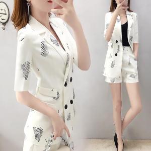 YF67970# 西装短裤套装女夏装新款韩版时尚气质网红西服两件套洋气减龄