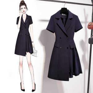 YF47600# 西装裙夏季新款收腰显瘦气质女神范职业装高端西装连衣裙女夏