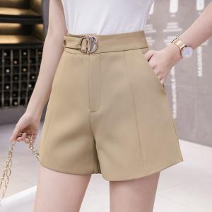 YF55488# 阔腿短裤女夏季薄款新款小个子高腰显瘦A字西装休闲裤 服装批发女装直播货源