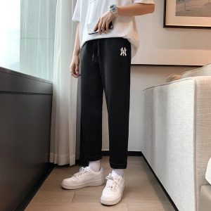 YF48536# 男士针织运动长裤夏季新款休闲裤薄款运动裤卫裤 服装批发女装直播货源