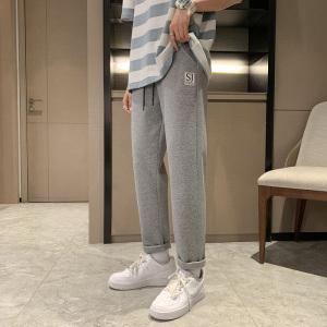 YF48537# 夏季新款灰色运动裤男宽松薄款潮牌休闲裤子男薄卫裤 服装批发女装直播货源
