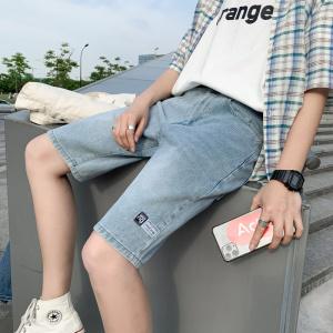 YF48542# 牛仔短裤男夏季新款高街潮流五分裤薄款男士牛仔裤短裤 服装批发女装直播货源