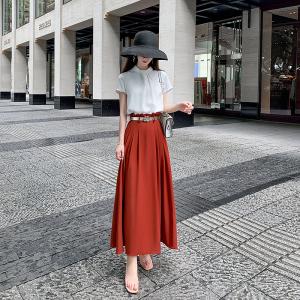 YF49000# 套装新款女夏气质女神范高端轻奢两件套长裙时尚名媛套装女  服装批发女装直播货源