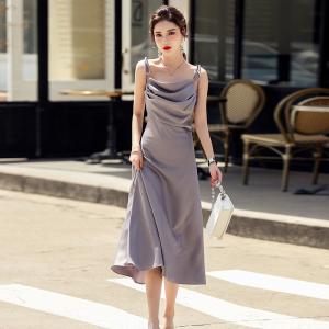 YF49216# 夏季新款温柔风法式连衣裙女气质吊带夏设计感小众长裙 服装批发女装直播货源