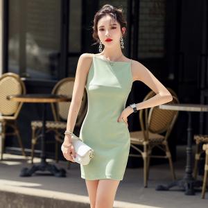 YF50374#  ~撩动人心法式连衣裙女夏新款轻熟风一字肩高级感短裙 服装批发女装直播货源