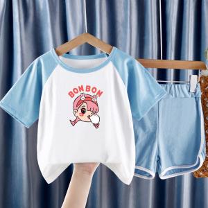 CX6845# 最便宜服装批发 童套装夏季新款儿童夏装宝宝纯棉短袖小童薄款夏