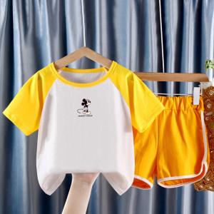 CX6844# 最便宜服装批发 新款夏装套装童装儿童中大童纯棉韩版夏季男童女童两件套潮