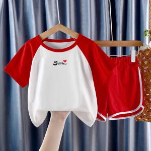 CX6841# 最便宜服装批发 新款夏装套装潮儿童装韩版夏季网红男女孩时髦两件套