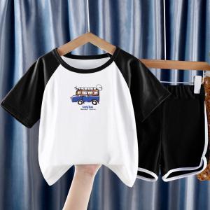CX6839# 最便宜服装批发 童装男女童夏装短袖套装新款潮洋气中大儿童两件套韩版运动