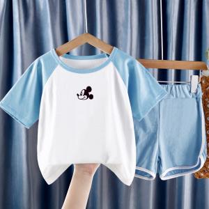 CX6833# 最便宜服装批发 新款套装男女童夏季韩版两件套休闲薄款潮童装