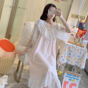 YF57061# 实宫廷风公主睡裙夏季甜美莫代尔睡衣性感网纱家居服 服装批发女装直播货源