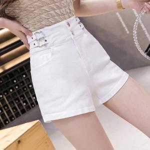 YF55491# 时尚高腰牛仔短裤女夏季新款韩版百搭显瘦复古热裤潮 服装批发女装直播货源