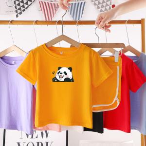 CX6822# 最便宜服装批发 男女童夏季套装春款儿童装纯棉网红婴儿时髦短袖短裤两件套