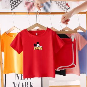 CX6821# 最便宜服装批发 男宝宝夏装套装纯棉0-1-2-3岁4男童5短袖衣服婴儿儿童夏季两件套6