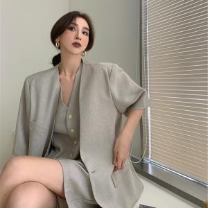 YF59121# 新款大码胖妹妹轻熟风高级感套装女夏季