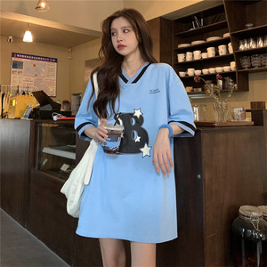 YF58833# V领设计感韩版BF风中长款下半身失踪上衣 服装批发女装直播货源