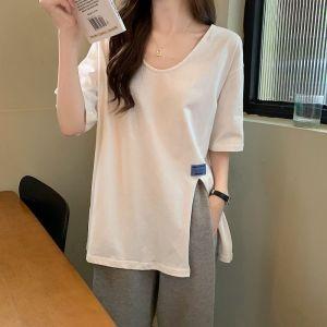 CX6469# 最便宜服装批发 大码炸街短袖t恤女夏装辣妹设计感小众体恤衫胖mm上衣潮