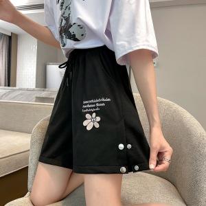 YF58834# 运动短裤女宽松夏季新款学生显瘦直筒中裤阔腿五分裤 服装批发女装直播货源