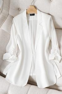 YF59821# 春夏新款高端OL休闲职业装外套休闲西装七分袖西服 服装批发女装直播货源