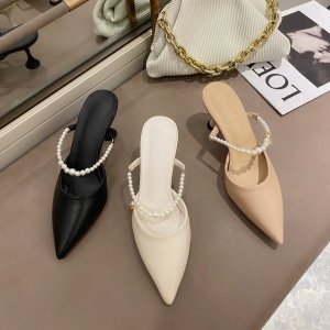 X-25900# 尖头拖鞋细跟 鞋子批发女鞋货源