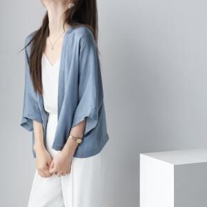 YF60071# 真丝质感超薄防晒衣女夏季新款小披肩薄款开衫女上衣 服装批发女装直播货源