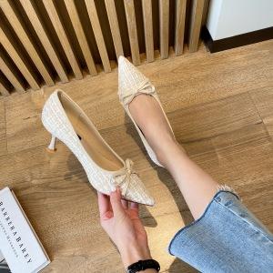 X-25905# 小香风细跟单鞋 鞋子批发女鞋货源