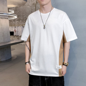 YF61999# 短袖T恤男韩版夏季体恤潮牌纯棉内搭宽松长袖打底衫衣服 服装批发男装直播货源