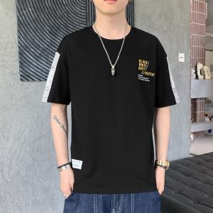 YF62000# 夏季男士短袖t恤纯棉上衣服圆领宽松潮牌男生半袖青少年 服装批发男装直播货源