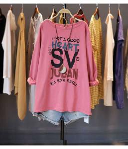 YF62274# 棉休闲韩版宽松大码胖MM长袖T恤女纯色显瘦打底上衣 服装批发女装直播货源