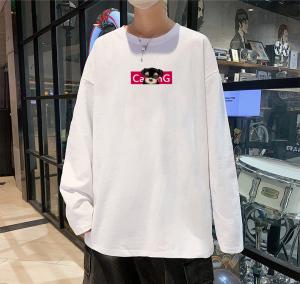 CX6557# 最便宜服装批发 男士秋季圆领长袖T恤男士纯棉潮流衣服卫衣男打底衫
