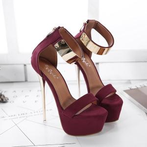 X-26073# 恨天高女鞋时尚女高跟凉鞋 34-40码 鞋子批发女鞋直播货源