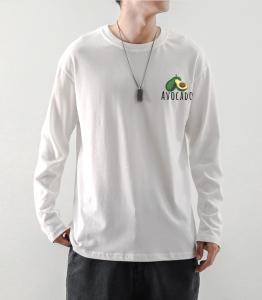 CX6560# 最便宜服装批发 男士秋季圆领长袖T恤男士纯棉潮流衣服男打底衫