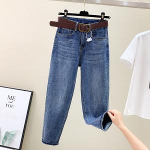 YF70823# 牛仔裤女直筒...