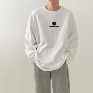 CX6561# 最便宜服装批发 男士秋季圆领长袖T恤男士纯棉潮流衣服男打底衫