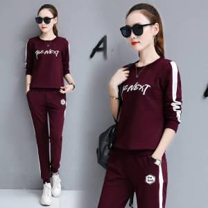 YF71080# 运动套装女春秋季新款时尚女套装长袖长裤学生两件套 服装批发女装直播货源