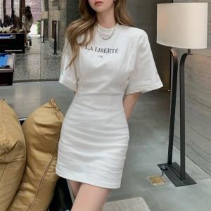 YF65096# 夏季新款高级感女装女神范御姐温柔风连衣裙 服装批发女装直播货源
