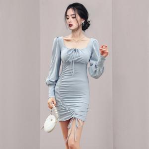 YF65642# 新款女装收腰显瘦包臀连衣裙 服装批发女装直播货源