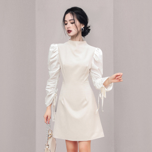 YF65643# 新款名媛气质收腰显瘦包臀连衣裙 服装批发女装直播货源