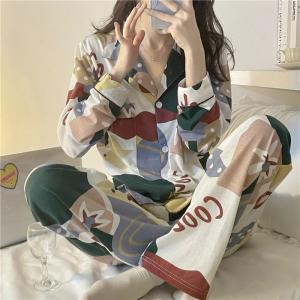 YF70442# 睡衣女秋季韩版ins两件套家居服 服装批发女装直播货源