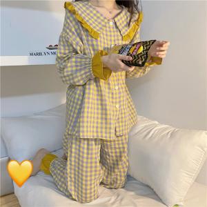 YF70444# 睡衣女秋季可爱韩版ins两件套家居服 服装批发女装直播货源
