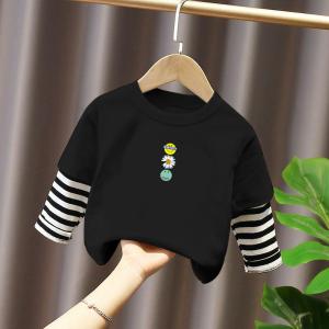 CX6815# 最便宜服装批发 童装男女童长袖T恤秋装新款儿童打底衫中大童洋气韩版