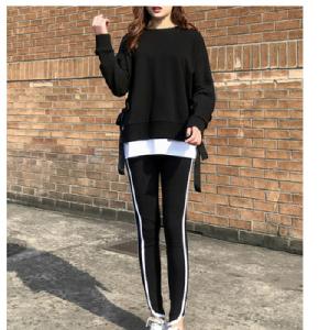 YF67369# 春秋假两件休闲运动服套装女两件套韩版显瘦时尚卫衣套装 服装批发女装直播货源