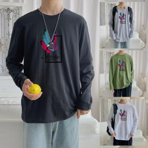 CX6920# 最便宜服装批发 纯棉套头圆领T恤情侣装秋季打底衫圆领长袖男女外套