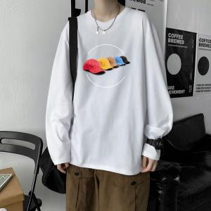 CX6924# 最便宜服装批发 纯棉套头圆领T恤情侣装秋季打底衫圆领长袖男女外套