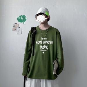 CX6925# 最便宜服装批发 纯棉套头圆领T恤情侣装秋季打底衫圆领长袖男女外套