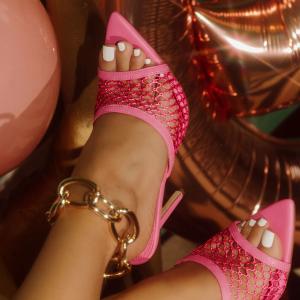 X-26169# 新款镂空4色高跟尖头凉鞋35-42码 鞋子批发女鞋直播货源